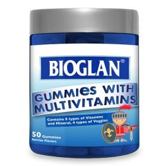 BIOGLAN KIDS GUMMIES WITH MULTIVITAMINS 50S