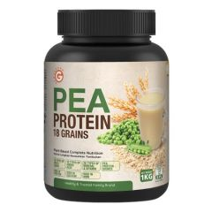 GOODMORNING PEA PROTEIN 18 GRAINS PLANT-BASED COMPLETE NUTRITION 1KG