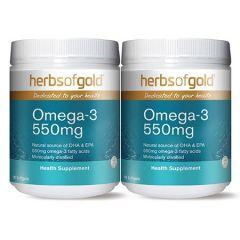 HERBS OF GOLD OMEGA-3 550MG SOFTGEL 100S X 2